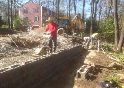 stone wall installer